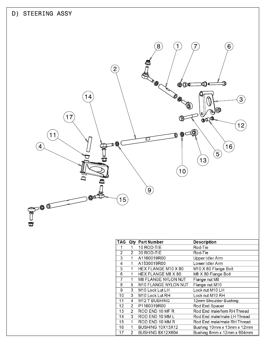 2021 Part List D Steering Assy