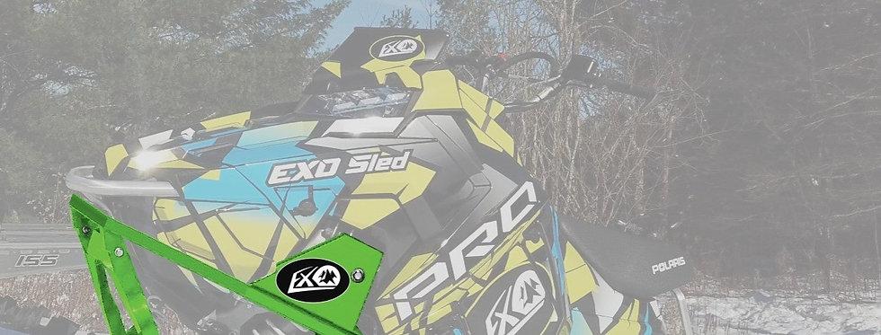 EXO Sled Snowbike Conversion Kit | Green