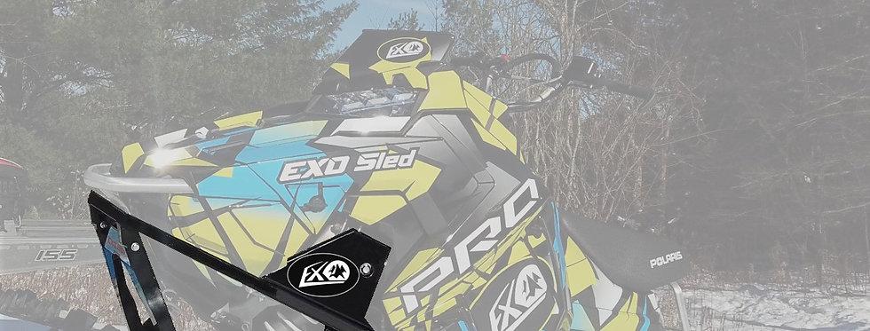 EXO Sled Snowbike Conversion Kit   Black