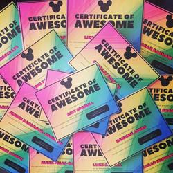SJ Dance Pride Certificates