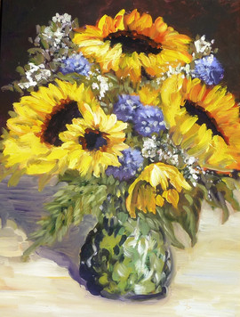 Sunflowers in the Limelight