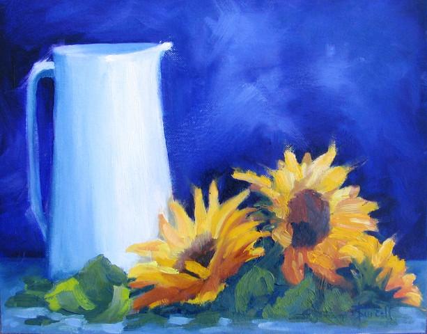 Jug & Sunflowers