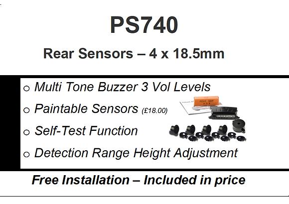 PS740   Rear Parking Sensors Installed