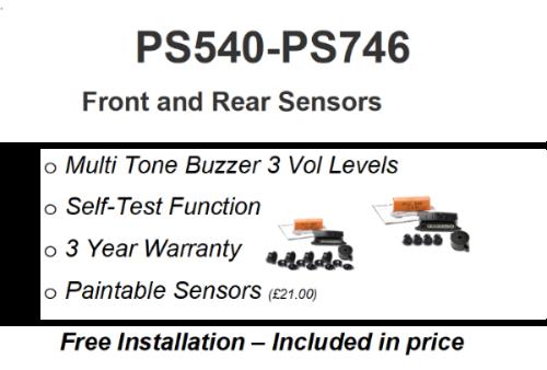 PS540 & PS746    F&R Sensors Installed