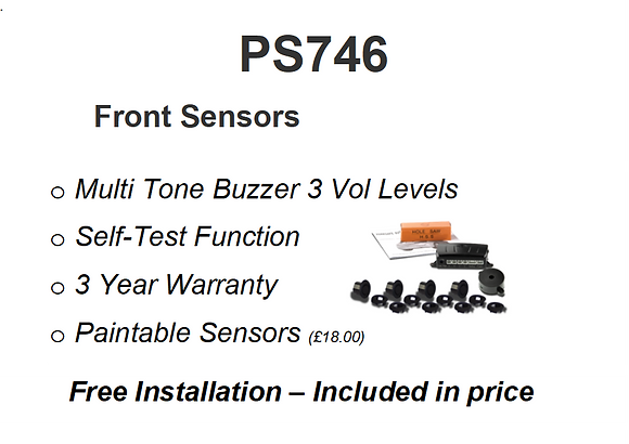 PS746B   Front Parking Sensors Installed