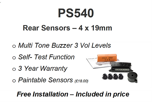 PS540 Rear Sensors Installed
