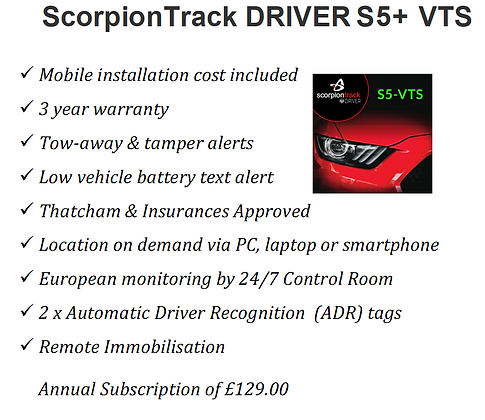ScorpionTrack S5+ with immobilisation