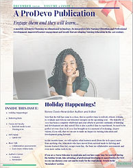 Cover page ProDevo newsletter Vol1Issue2