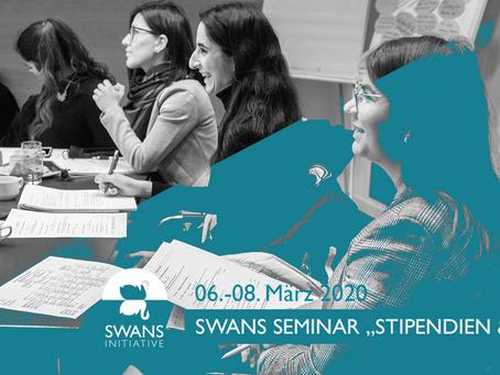 """Jetzt schnell anmelden: SWANS Seminar """"Stipendien und Co.!"""" vom 6. bis 8. März in Berlin"""