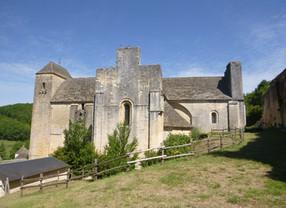 Vue Sud de l'église-abbatiale