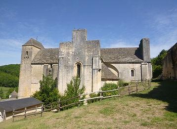 Vue extérieur Sud de l'église-abbatiale