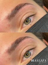 1 brow lamination voor en na foto bellez