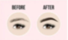 Before and after lashes and brows by zon