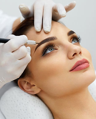 microblading hairstroke ombre lashes & a