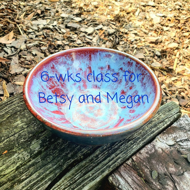 6wk clay RESERVED Betsy and Meghan
