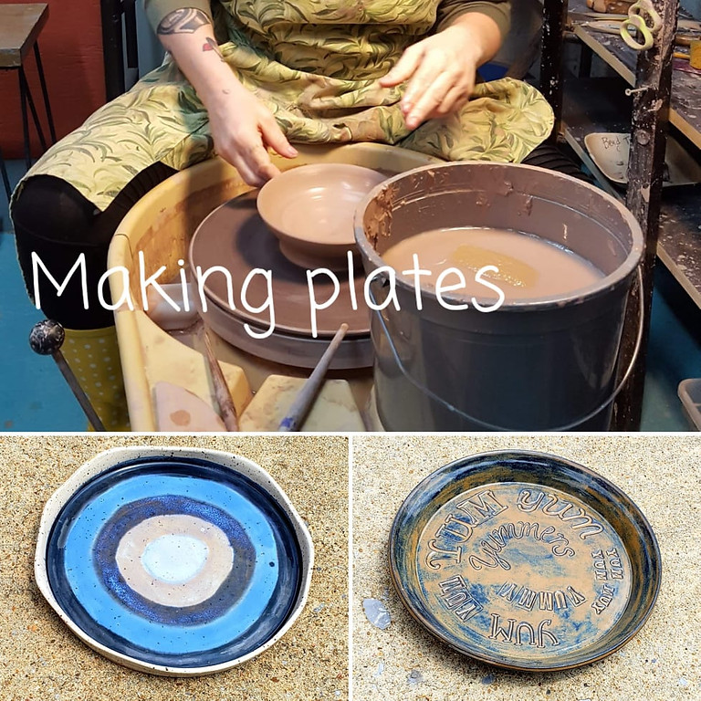 1:30pm Making Plates on the Potter's Wheel $38