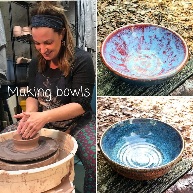 4pm Making Bowls on the Potter's Wheel $38