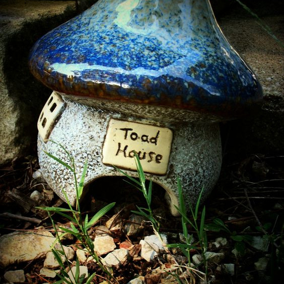 Pottery Toad House $45