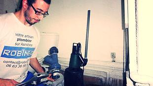 Dépannage remplacement pompe relevage suite à inondation, installation clapet anti-retour