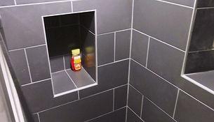 Carrelage douche italienne niche carrelée