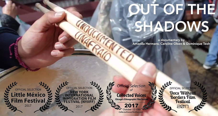 Documentary Out of the Shadows about Quinto Imperio and their work in the community in support of undocumented studets