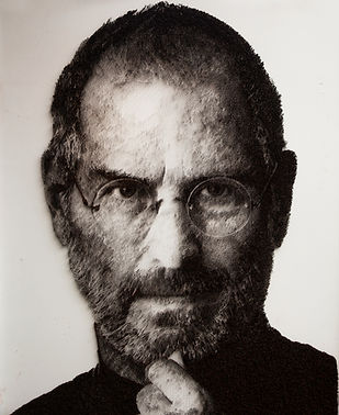 김용진, Steve Jobs, 2019, steel on canvas,