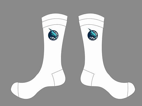 Seahawks Crew Socks - White
