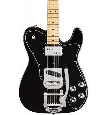 Fender Limited Telecaster in Custom Black with Bigsby and Bag
