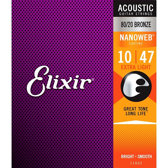Elixir 10-47 Coated Strings