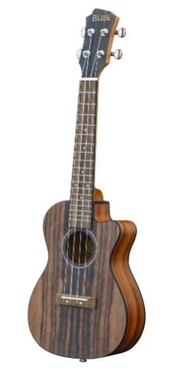 Adam Black Concert CE Ukulele - Stripped Ebony