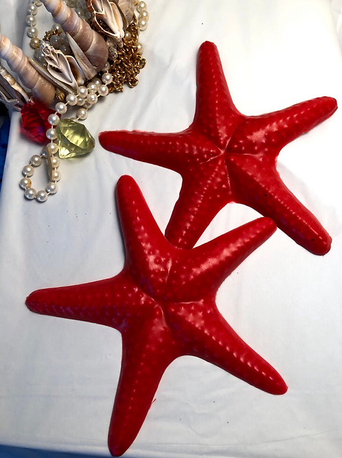 Pair of silicone starfish or shells