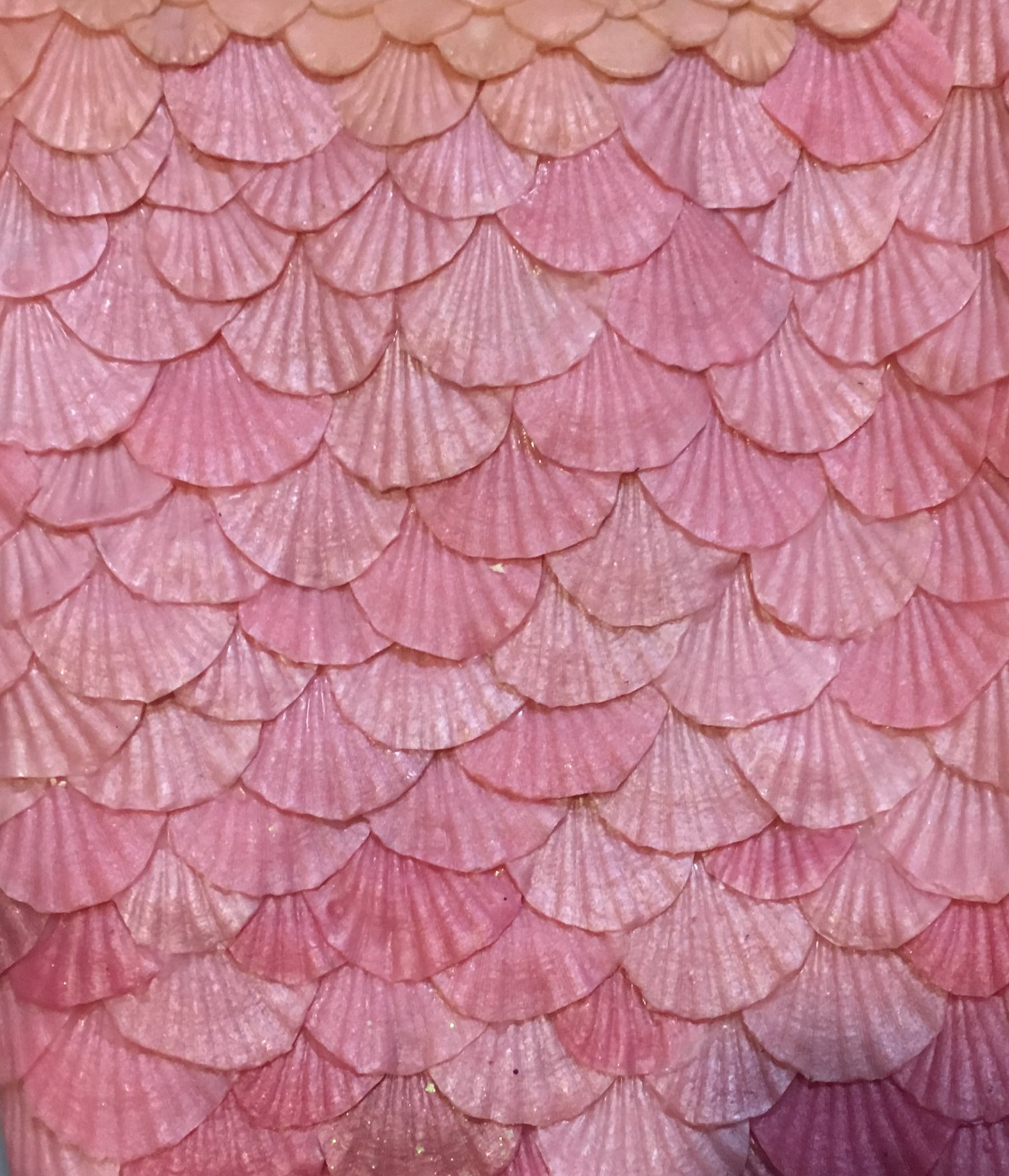 Silicone mermaid scales