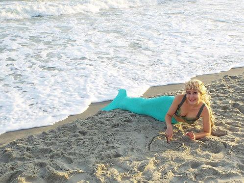 Custom swimmable fabric mermaid tail (kids 6+)
