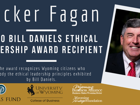 Tucker Fagan receives 2020 Bill Daniels Ethical Leadership Award