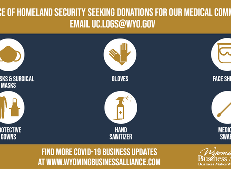 Donate supplies to the medical community