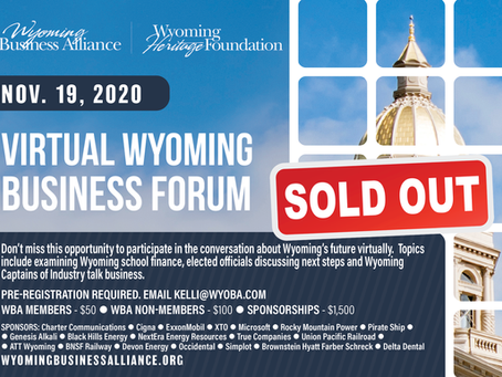 Nov. 19  Business Forum sold out