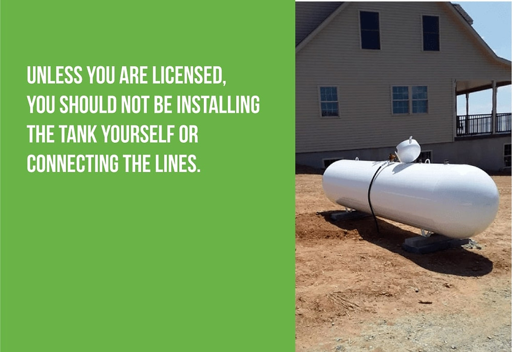 don't install a propane tank unless you are licensed