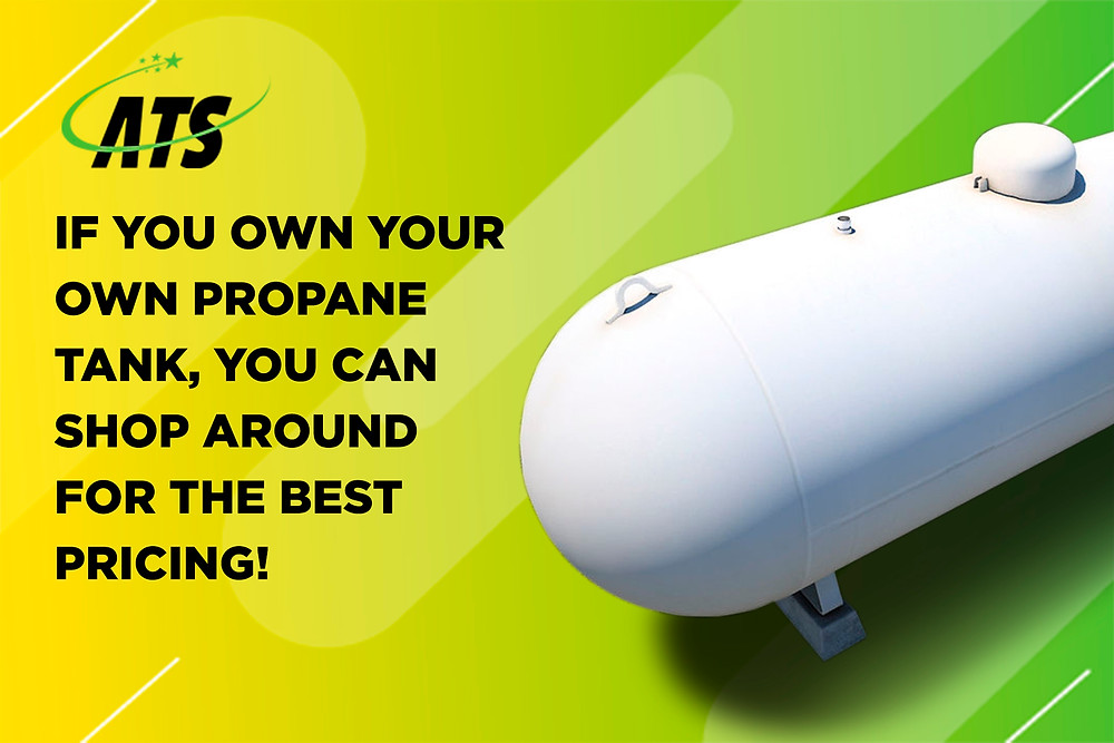 shop around for the best propane pricing when you own your own tank