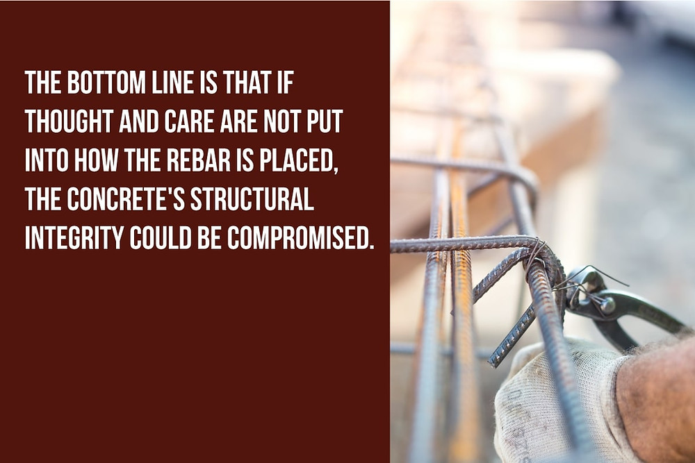 concrete's structural integrity can be compromised with bad rebar