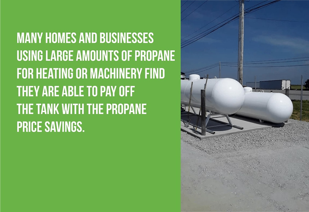 many places pay off a propane tank with their gas savings