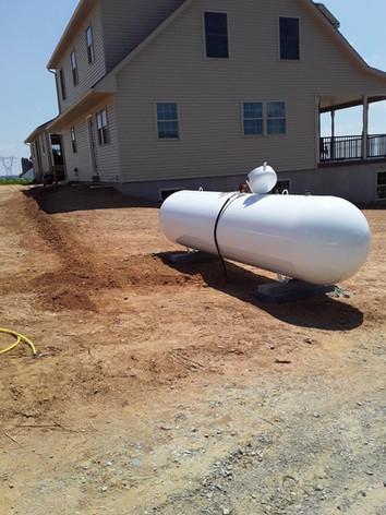 Residential 500-gallon propane tank