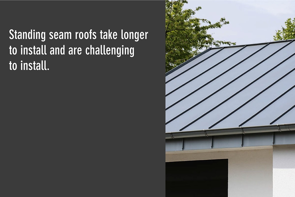 standing seam roofs take longer to install