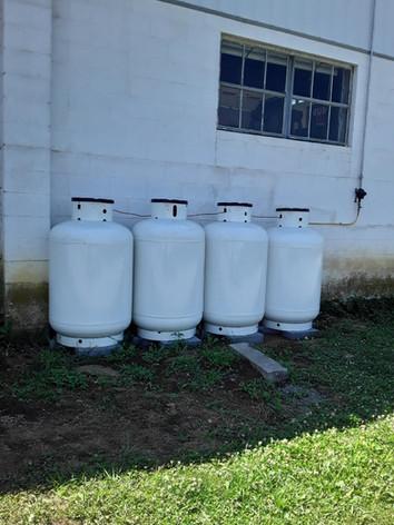Series of 125-gallon tanks