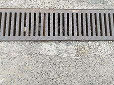 floor drain in concrete floor