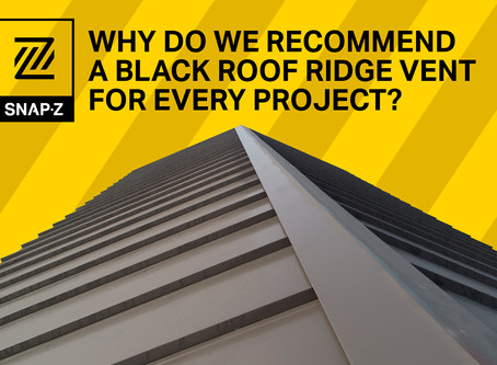 Why Do We Recommend A Black Roof Ridge Vent For Every Project?