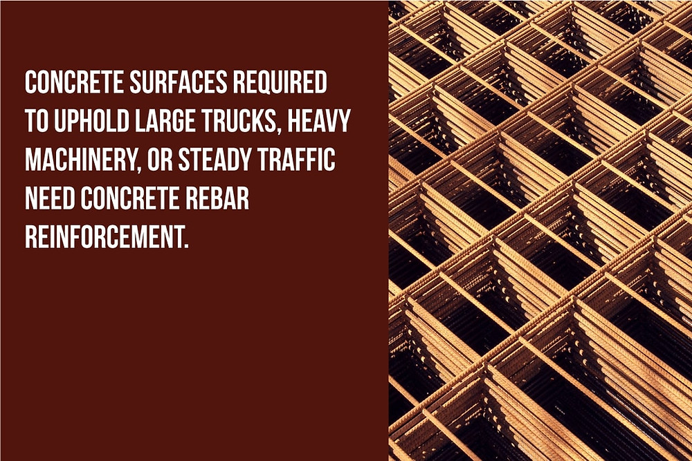 concrete that holds heavy loads need concrete rebar