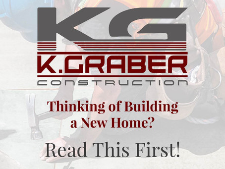 Thinking of Building a New Home?  Read This Article First!