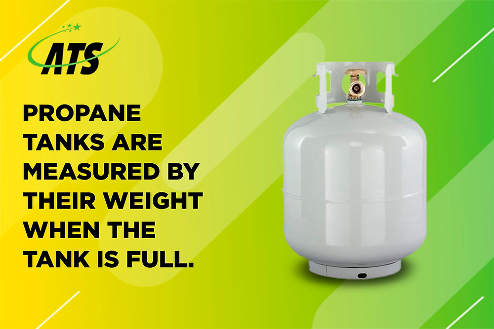 propane tanks are measured by their weight when the tank is full