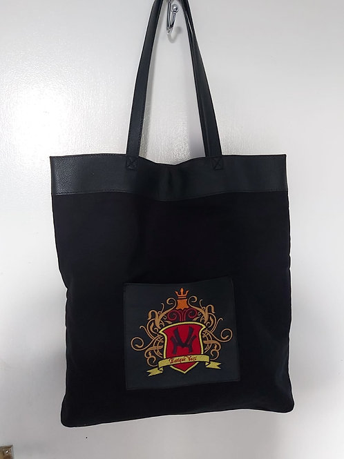 Tote (leather and canvas) bag limited edition