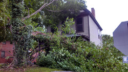 Storm damage on Eastern parkway